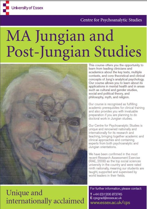Revamped Masters in Jungian and Post-Jungian Studies at Essex.