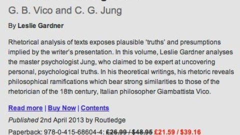 Rhetorical Investigations  G. B. Vico and C. G. Jung