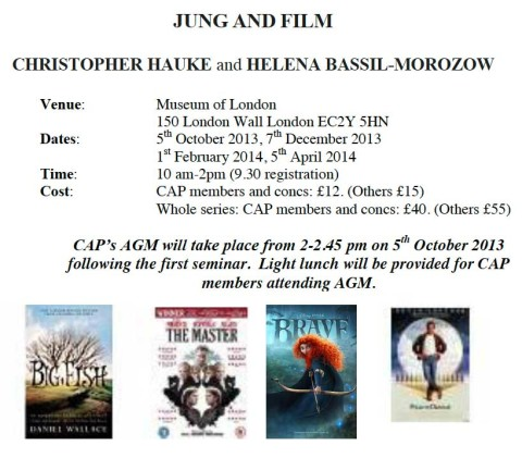 JUNG AND FILM   CHRISTOPHER HAUKE and HELENA BASSIL-MOROZOW
