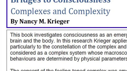 New Book by IAJS MEMBER Nancy M. Krieger. Bridges to Consciousness  Complexes and Complexity