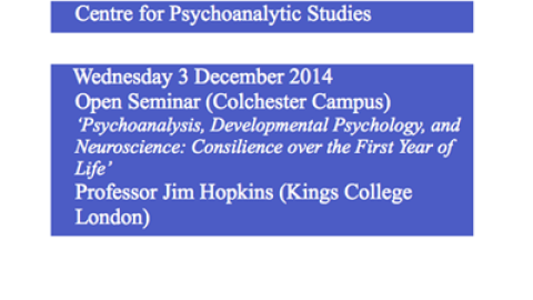 Centre for Psychoanalytic Studies: Presents…