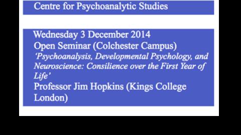Centre for Psychoanalytic Studies: Presents…