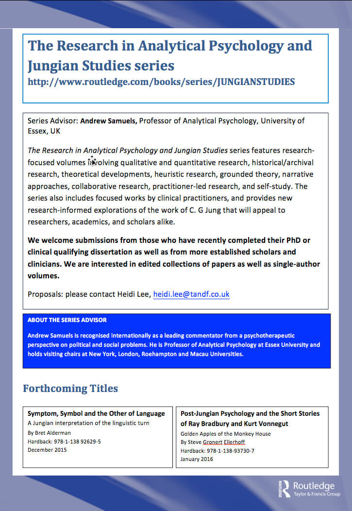 The Research In Analytical Psychology And Jungian Studies Series By